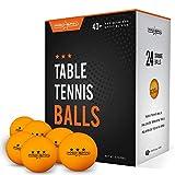 Pro Spin Lot de 24 balles de ping-pong Orange 40 + Balles d'entraînement pour intérieur et...