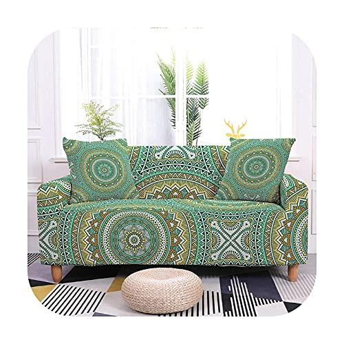 2020 Sofabezug für Wohnzimmer, elastisch, rutschfest, Weihnachtsmann-Design, 23-1-Sitzer, 90-140 cm