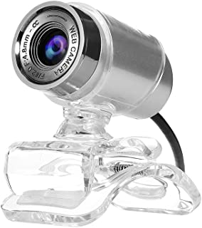 PC Webcam Computer Web Camera Web Cam 480P Webcam USB Manual Focus Drive-Free with 3.5mm Audio Plug for Gaming PC Laptop D...