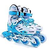 ZCRFY Skates Kinder Rollschuhe Erwachsene Rollschuhe Kinder Flache Blume Schuhe Einzelne Inline-Skates -