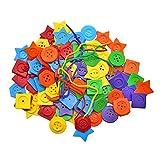 FITYLE Grande pulsante Puzzle allacciatura giocattoli per bambini fai da te artigianato infilatura giocattolo giochi da tavolo in età prescolare per bambini