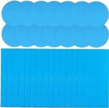 TOPofly 30PCS Piscina Parches Kit Auto-Adhesivas Parches Cinta Inflable Parche de PVC Inflables Cinta Parche de reparación para el Parachoques para Piscinas Barco Inflable