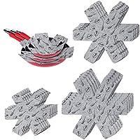 flintronic separatori pentole - proteggi pentole e salvapadelle - set 15 pezzi (3 misure, 38/35.5/26cm) - perfetti per pentole e padelle antiaderenti in acciaio inox, ghisa, ceramica (grigio)