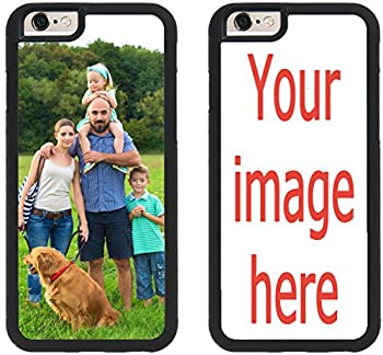 Custom Phone Cases for iPhone 6S Plus iPhone 6 Plus iZERCASE [Personalized Custom Picture CASE] Make Your Own Phone Case  Black