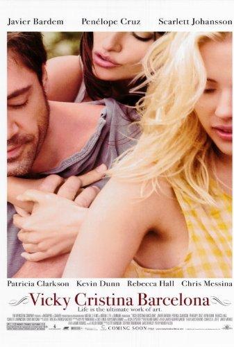 Vicky Cristina Barcelona-Film Poster 27 x 40-69 cm x 102 cm, Javier Bardem Scarlett Johansson Penélope Cruz Kevin Dunn Rebecca Hall
