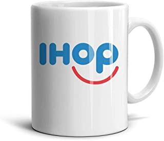 Ruslin IHOP White Ceramic Mugs Coffee Mug Or Tea Mug