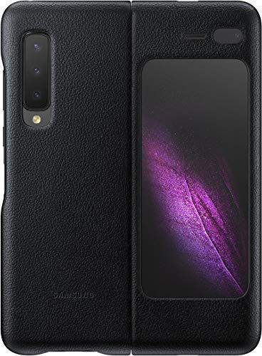 Samsung Leder-Schutzhülle für Galaxy Fold 5G, Schwarz EF-VF907LBEGWW