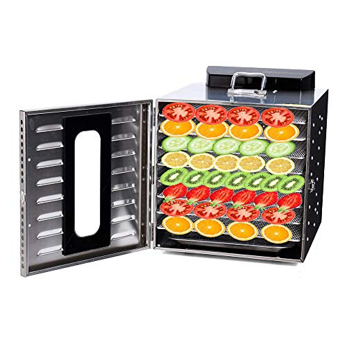 Check Out This 12 Layer Professional Food Dehydrator Machine, Digital Adjustable Timer and Temperatu...