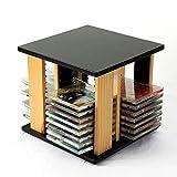 Nai-storage Rotación de Soporte for CD de Escritorio, Sala de Juegos Cine Club de Madera del Estante Juego Almacenamiento del Disco - Gabinete de Almacenamiento de DVD (Size : 28 * 28 * 27CM)