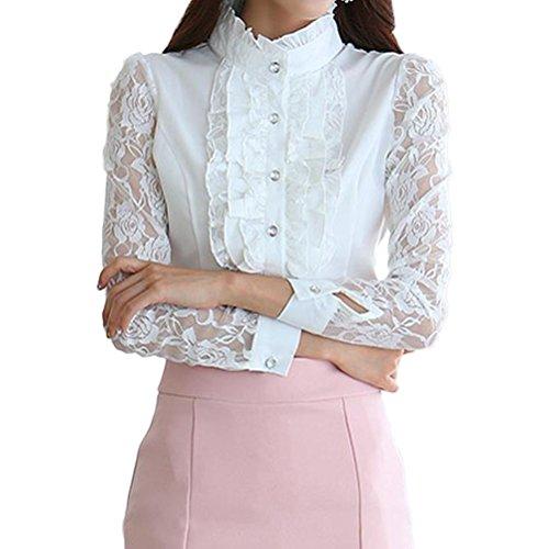 Camisa flamenca blanca mujer 🤎