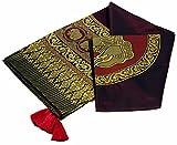 Guru-Shop Brokatdecke mit Elefantenmotiv, Tagesdecke, Bettüberwurf - Bordeaux, Viskose, 260x205 cm, Patchwork Steppdecke aus Indien