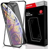 RANVOO Kompatibel mit iPhone XS/X Panzerglas, Displayschutzfolie mit Schablone 3D Vollständige...