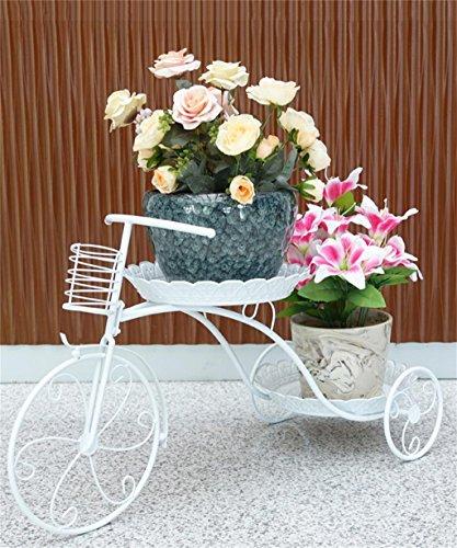 Européen - Plateau De Plateau De Fleur De Fer De Style Stand De Plante Modern Minimaliste Creative Balcon Fleur Rack ( couleur : Blanc , taille : 77*45*31cm )