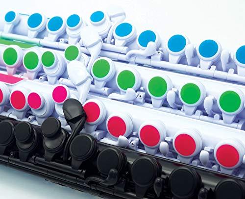 NUVOヌーボプラスチック製管楽器完全防水仕様フルートC調jFlute2.0White/GreenN220JFGN(専用ハードケース付き)【国内正規品】
