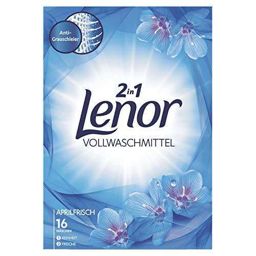 Lenor Vollwaschmittel Pulver Aprilfrisch, 1,04 kg, 1er Pack (1 x 16 Waschladungen)