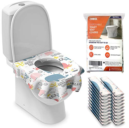 XL Toilet Seat Covers Disposable for Kids Toddler - 20 Pack - Full Cover Potty Shields for Adults - Large Individually Wrapped Toilet Seat Cover for Travel and Public Toilet