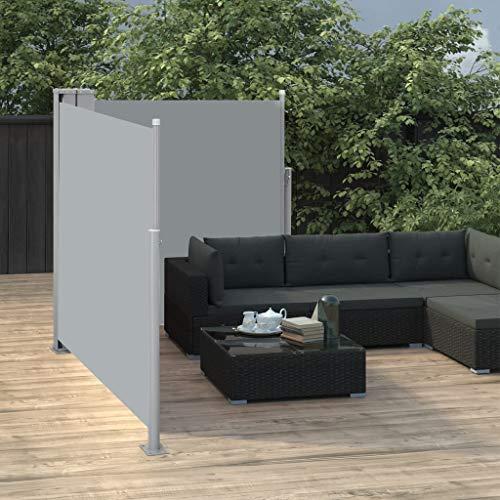 Festnight Ausziehbare Seitenmarkise Balkon Garten Terrasse Seitenmarkise Zertifiziert Sonnenschutz Sichtschutz Anthrazit 100 x 600 cm