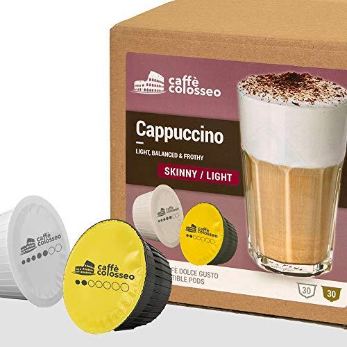Caffè Colosseo - Cappuccino Light - 60 Capsule Compatibili Dolce Gusto (60 Capsule, 30 Porzioni)   Con Latte Scremato