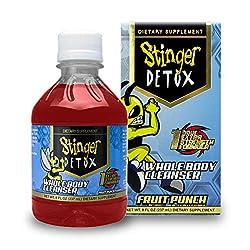 powerful Stinger Detox Full Body Cleanser 1 Hour Extra Strong Drink – Fruit Punch – 8 fl oz – 4 packs