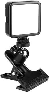 撮影 照明 ライト LED ビデオライト コンパクト クリップ式雲台が付き カメラライト 81球 小型 充電式 3000mAh 3200K-5600K Ra95+ 調光 撮影ライト デジタルカメラ DJI Osmo Pocket Action ...