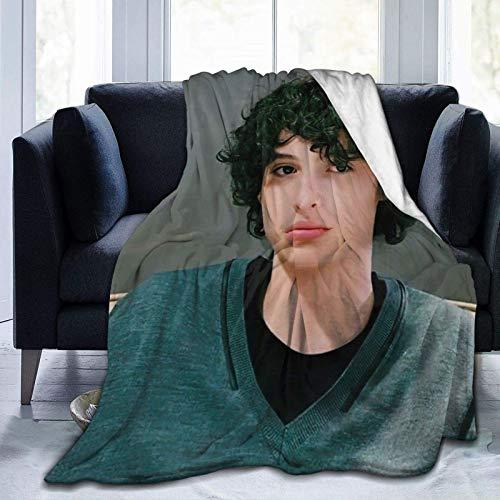 shenguang Throw Finn Wolfhard Stranger Things Manta para Cama - Manta de Forro Polar mullida cómoda para sofá