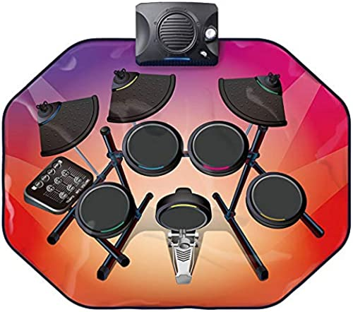 Glühende Regal Drum Music Pad, Kinder Elektronische Musik Game Pad Baby Portable Musik Teppich Geeignet Für 3 Jahre Alt Oben