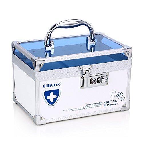 Remylady contenitore a scatola per medicinali o gioielli, con serratura a combinazione, adatto come organizer per armadietto