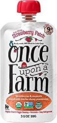 Once Upon a Farm Sun-Shiny Strawberry Patch (Stage 3 Organic Baby Food), 3.2 oz