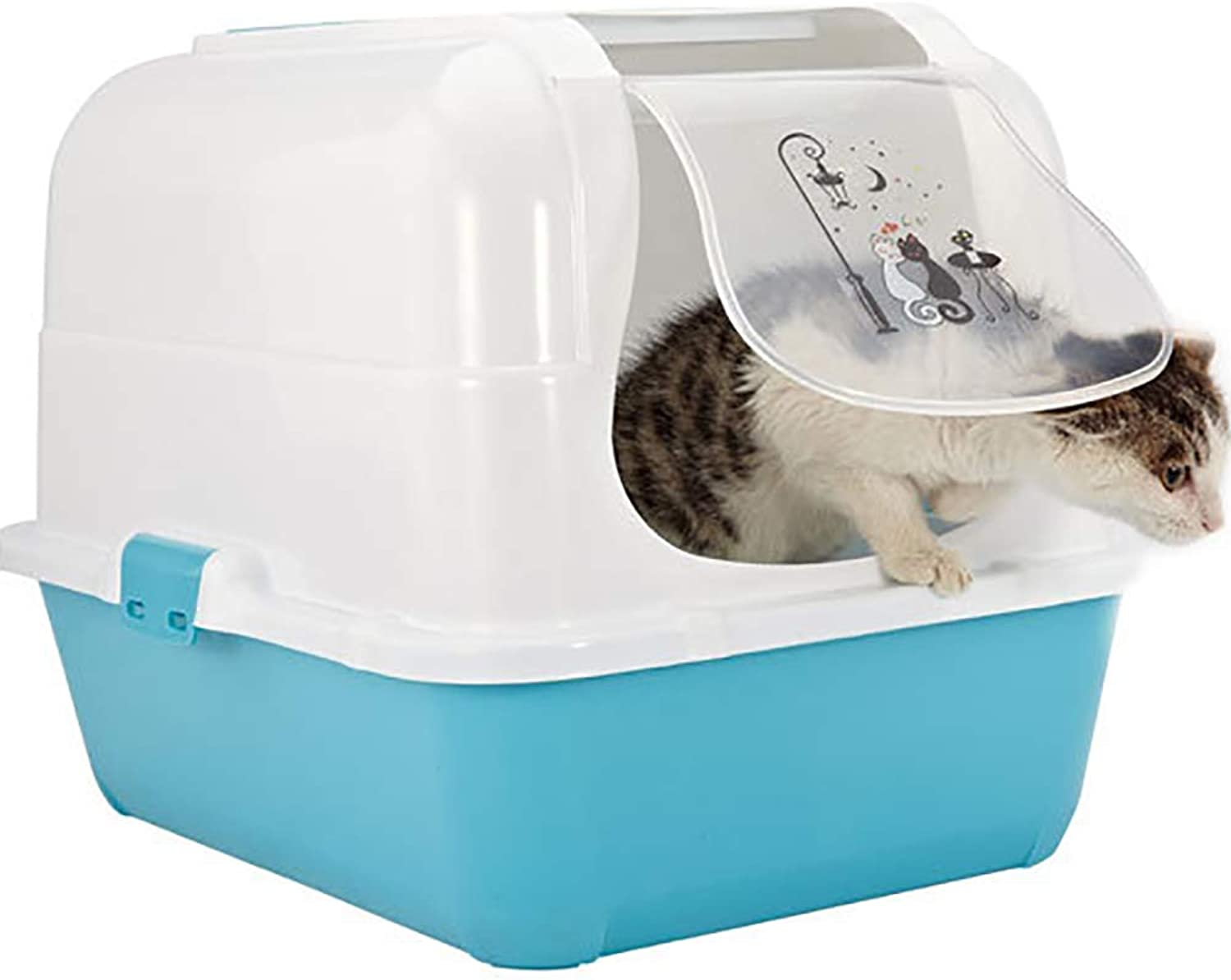 Closed Cat Toilet, Closed Cat Toilet Large Room,Clean Step Litter cat Toilet,Cat Toilet Training Systems,pet toilet,Durable,Clean