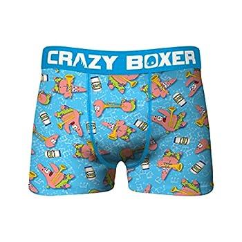 Crazy Boxers Spongebob Squarepants Patrick Character All Over Boxer Briefs Large  36-38  Blue