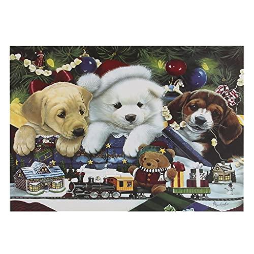 Bdgjln Puzzle 1000 Piezas-Perro de Navidad-Jocuri educative, potrivite pentru adulți și copii, Care fac față scenelor stresante.-50x75cm