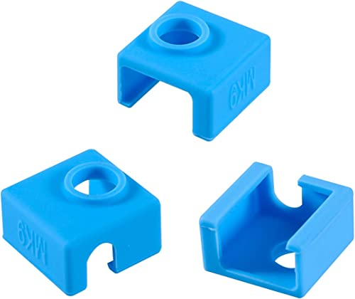 3D Printer Heater Block Silicone Cover, Aokin MK7 MK8 MK9 Silicone Sock for MK7/8/9 3D Printer Hotend Extruder, Creal...
