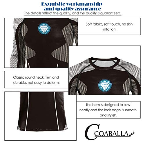 C COABALLA Cloud Computing Service and Data Storage - Part 2 - Illustration Data,Long-Sleeved T-Shirt Cool Dry Compression Baselayer Big Data XL