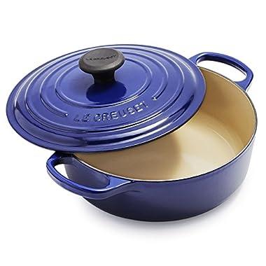 Le Creuset Signature Round Wide 3-1/2-Quart Dutch Oven, Indigo