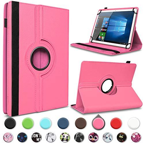 UC Express® Robuste Tablet Schutzhülle für Asus ZenPad 8.0 aus hochwertigem Kunstleder Hülle Tasche Standfunktion 360° Drehbar kombiniert Schutz & Design in 9 verschiedenen Farben Cover Hülle Universal Farbauswahl, Farben:Pink