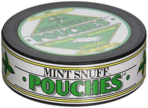 Original Mint Snuff, Non-tobacco, 5 Cans (Original Peppermint Pouch)