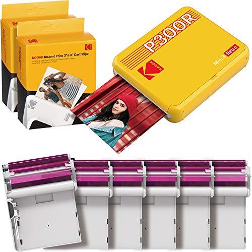 Kodak Mini 3 Stampante Bluetooth portatile per cellulare, 6 cartucce incluse, foto istantanee formato quadrato 76x76 mm, Compatibile iOS e Android - G