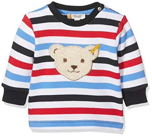 Steiff Steiff Baby-Jungen Sweatshirt, Weiß (Bright White 1000), 62