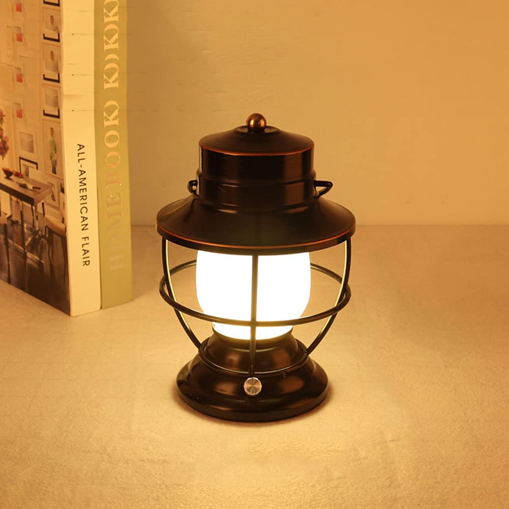 Retro Led Lantern Portable 3 Omaha Mall Camping Lighti Max 75% OFF Rechargeable