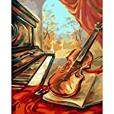 Digital-Malerei zum Basteln, Ölgemälde, Dekoration, selbstgemachtes Malerei, Leinwand, 40 x 50 cm,...