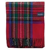 The Tartan Blanket Co. Recycled Wool Blanket Stewart Royal Tartan (59' x 75')