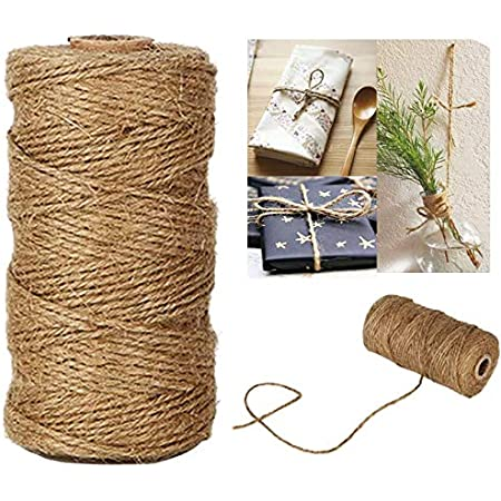 377 Feet Natural Jute Twine Best Arts Crafts Gift Twine Christmas Twine Durable Packing String