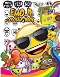 Emoji Coloring Book: Fun Emoji Book - Designs, Collages & Fun Quotes for Kids, Boys, Girls, Teens and Adults - Great Addition to Your Emoji Party Supplies and Emoji Stuff