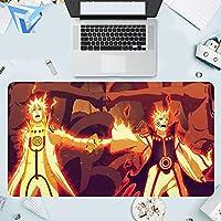 ナルトゲーミングマウスパッド、大型マウスパッド、長方形の滑り止めラバーマウスパッド、eスポーツ、特大マウスパッド、ゲーミングラップトップPC900*400*3mm-D_900*400*3MM