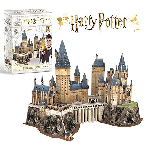 CubicFun Puzzle 3D Harry Potter Poudlard Castle School, Kits de Construction de Modèles, Jouets de Construction de Bricolage Cadeaux pour Adultes et Enfants, 197 Pièces