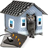 PETYELLA Heated cat Houses for Outdoor Cats in Winter -...