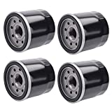 AloneGoer 4pcs HF204 Oil Filter Compatible with Yamaha YFM350 YFM400 YFM450 YFM550 YFM660 YZF-R1 YZF-R3 YZF-R6 5GH-13440-00 5GH-13440-20