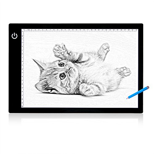 "Tracing Light Box LED Drawing Light Pad 17"" A4 Ultra-Thin Artcraft Tracing Board USB Powered with Stepless Bright Control for Artists Kids Drawing, Sketching, Animation, Designing X-ray Viewing"