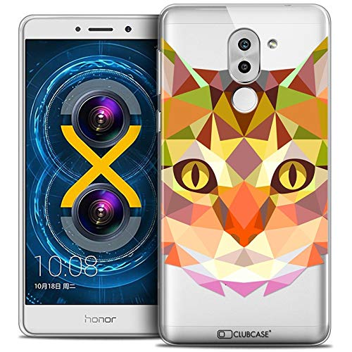 Carcasa para Huawei Honor 6X, Ultrafina Polygon Animals Gato