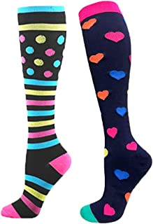 RGTOPONE Compression Socks for Women Nurse Doctor and Pregnancy Maternity Travel Running Sports Reduce Fatigue Swelling Shin Splints